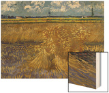 Wheatfield with Sheaves, c.1888 Wood Print by Vincent van Gogh