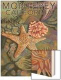 Monterey, California - Tidepool Wood Print by  Lantern Press
