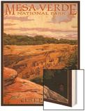 Mesa Verde National Park, Colorado - Cliff Palace at Sunset Wood Print by  Lantern Press