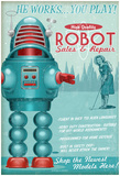 Robot Sales And Repair Poster
