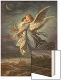 The Guardian Angel Wood Print by Wilhelm Von Kaulbach