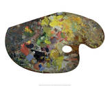 Claude Monet's Paint Palette, c. early 1900's Prints
