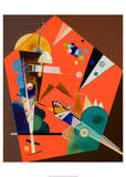 Tension in Red Prints by Wassily Kandinsky