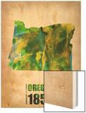 Oregon Watercolor Map Prints