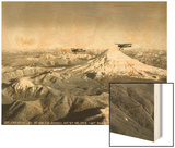 Mt. St. Helens - Mt. Rainier, 1937 Wood Print