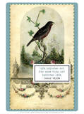 The Pet Bird, c. late 1800's Prints by W.E. Tucker