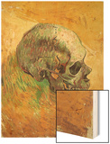 Skull in Profile, 1887 Wood Print by Vincent van Gogh