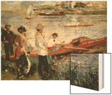 Oarsmen at Chatou Wood Sign by Renoir Pierre-Auguste