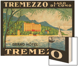 The Label for the Grand Hotel at Tremezzo on Lake Como Wood Print