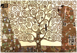 Gustav Klimt (The Tree Of Life) Art Poster Print Kunstdruck von Gustav Klimt