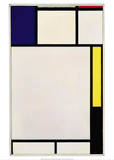 Composition in Blue, Red, Yellow and Black, 1922 Posters av Piet Mondrian