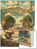 Hermosa Beach, California - Montage Scenes Posters by  Lantern Press