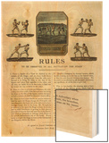 The First Rules of Boxing Published August 16th 1743 Prints