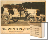 Advertisement for the Winton Automobile, 4-Cylinder Model, with Price List, 1905 Wood Print