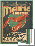 Lobster - Rockland, Maine Wood Print by  Lantern Press