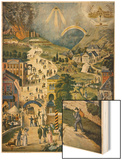 The Broad and Narrow Way, the Narrow Road to Heaven Contrasted with the Broad Way to Hell Wood Print