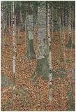 Gustav Klimt (Beech Trees) Art Poster Print Kunstdrucke von Gustav Klimt
