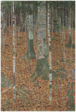 Gustav Klimt (Beech Trees) Art Poster Print Photo by Gustav Klimt