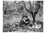 Rudolph Valentino with Alla Nazimova Under Blossom Tree, 1921 Prints