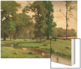 June Wood Print by George Inness