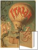 Ascensione del Cave - Emile Julhes, Capitano Areonauta Wood Print
