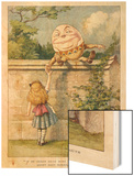 If He Smiled Much More the Ends of His Mouth Might Meet Behind Wood Print by John Tenniel