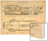 Hms Beagle Charles Darwin's Research Ship Wood Print by R.t. Pritchett