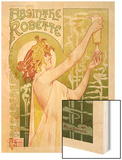 Absinthe Robette Wood Print by Privat Livemont