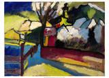 Herbstlandschaft mit Baum (1910) Posters by Wassily Kandinsky