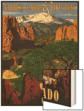 Pikes Peak from Garden of the Gods, Colorado Print by  Lantern Press