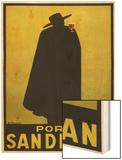 Sandeman Port, The Famous Silhouette Wood Print by Georges Massiot