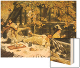 Picnic Lunch by Pool, 1876 Wood Print by James Tissot