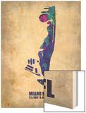 Miami Beach Florida Wood Print by  NaxArt