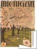 Michigan - Cherry Orchard in Blossom Poster by  Lantern Press