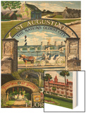St. Augustine, Florida - Montage Scenes Prints by  Lantern Press