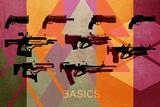 Basic Weapons Signes en plastique rigide