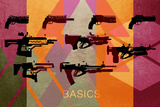 Basic Weapons Plastic Sign