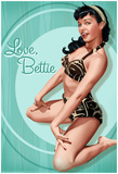 Bettie Page Love Bettie Pin-Up Poster