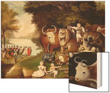 The Peaceable Kingdom Wood Print by Edward Hicks