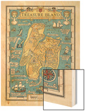 Map of Treasure Island Wood Print by Monro S. Orr