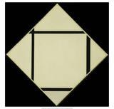 Tableau I - Lozenge with Four Lines and Gray, 1926 Affiche par Piet Mondrian
