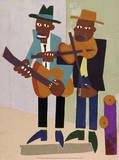 Street Musicians Posters av William H. Johnson
