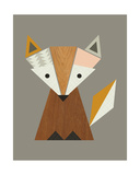 Geometric Fox Giclee Print by  Little Design Haus