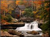 Glade Creek Mill, West Virginia Mounted Print