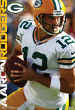 Aaron Rodgers Green Bay Packers Nfl Sports Poster Plakaty