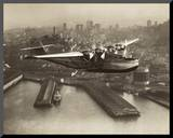 China Clipper, San Francisco, California, 1936 Mounted Print by Clyde Sunderland
