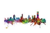 Melbourne Skyline Fotodruck von Michael Tompsett