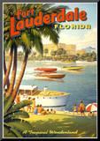 Fort Lauderdale, Florida Mounted Print by Kerne Erickson