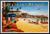Waikiki Beach Mounted Print by Kerne Erickson
