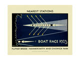 Boat Race 1923 Reproduction procédé giclée par  Transport for London